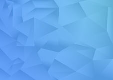 The polygon pattern abstract background, blue theme, vector, illustration, copy space for text Stock Images