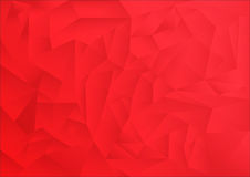 Polygon pattern abstract background, red theme. Vector, illustration, copy space for text Stock Photos