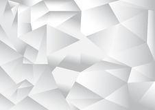 Polygon pattern abstract background. White and grey theme, vector, illustration, copy space for text Stock Image