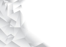 Polygon pattern abstract background. White and grey theme, vector, illustration, copy space for text Stock Photography