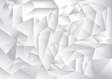 Polygon pattern abstract background, white and grey theme Stock Photo