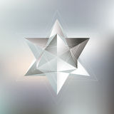 Polygon pattern with the reflection, minimalistic Stock Image