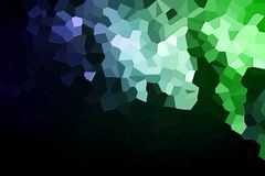 Abstract geometric polygons and triangles. Polygon. A photograph of an  colorful modern  poly  green and blue abstract background Royalty Free Stock Images
