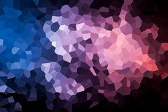 Abstract geometric polygons and triangles. Polygon. A photograph of an  colorful modern  poly  pink and blue abstract background Stock Photography