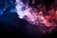 Abstract geometric polygons and triangles. Polygon. A photograph of an  colorful modern  poly  pink and blue abstract background Royalty Free Stock Photography