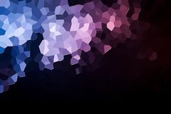 Abstract geometric polygons and triangles. Polygon. A photograph of an  colorful modern  poly  pink and blue abstract background Stock Images