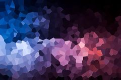 Abstract geometric polygons and triangles. Polygon. A photograph of an  colorful modern  poly  pink and blue abstract background Stock Photos