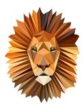 Polygon picture lion head. Polygon picture  lion head Stock Images