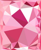 Polygon pink background Royalty Free Stock Photos