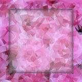 Polygon pink pattern Royalty Free Stock Images