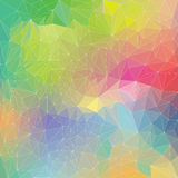 Polygon rainbow pattern Royalty Free Stock Photos