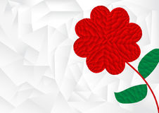 Polygon red heart arrange in flower shape with white background Royalty Free Stock Photo