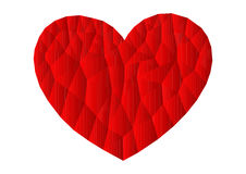 Polygon red heart icon Royalty Free Stock Photography
