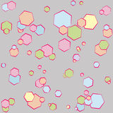 Polygon romb pattern Royalty Free Stock Images
