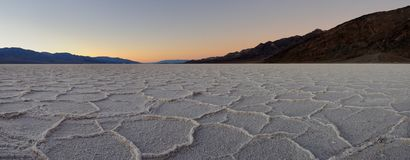 Polygon salt pans panoramic Stock Photography