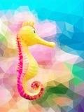Polygon seahorse Stock Photography