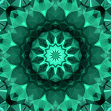 Polygon seamless abstract pattern in dark elegant green colors Royalty Free Stock Image