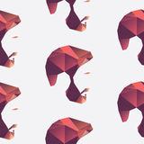 Polygon Seamless Face Pattern Stock Image