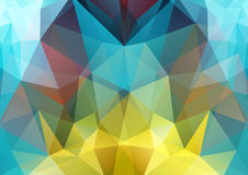 Polygon semi-symmetric background Royalty Free Stock Image