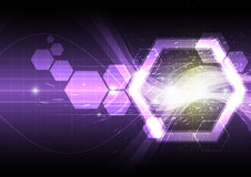 Polygon shape abstract background. Illustration Stock Image