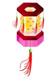 Polygon shape lantern. A vector, illustration of six polygon lantern, for chinese new year Royalty Free Stock Photography