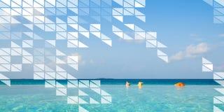 Polygon Shape Mosaic Design Abstract Transparent Concept Stock Photos