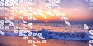 Polygon Shape Mosaic Design Abstract Transparent Concept Royalty Free Stock Photos