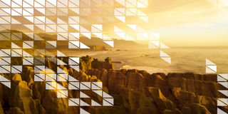 Polygon Shape Mosaic Design Abstract Transparent Concept Royalty Free Stock Photo