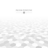 Polygon shapes perspective Royalty Free Stock Image