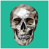 Polygon skull Royalty Free Stock Images