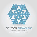 Polygon Snowflake Royalty Free Stock Photos