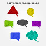 Polygon speech bubbles Royalty Free Stock Photo