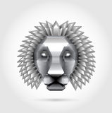Polygon steel metal lion royalty free stock photography