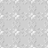 Polygon-Stern-Geometrie-Kreuz Dot Frame Line Kunst des Weißbuches 3D stock abbildung