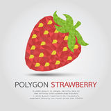 Polygon Strawberry Stock Image