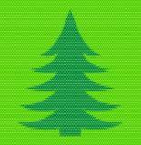 Polygon style Christmas fir tree. Matt inlay Royalty Free Stock Photography