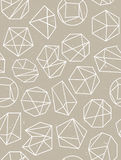 Polygon style seamless pattern. Vector background. Stock Image
