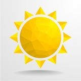 Polygon Sun Royalty Free Stock Photography