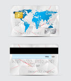 Polygon texture realistic credit cards templates Stock Image