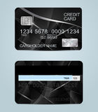 Polygon texture realistic credit cards templates Royalty Free Stock Image