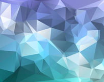Polygon triangle abstract background in blue purple hues Stock Images