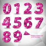 Polygon triangle number set on the white  abstract background. Eps10 vector illustration. Polygon triangle number set on the white triangle abstract background Royalty Free Stock Photos