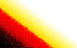 Polygon vector background of Germany Stock Photo