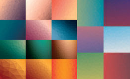 Polygon Vector Background Set Royalty Free Stock Photos