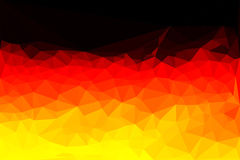 Polygon vector flag of Germany Stock Photography