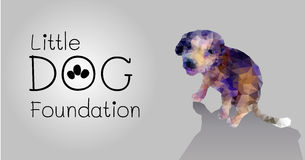 Polygon vector little dog foundation design template Stock Image