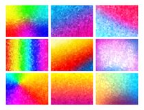 Polygon vector mosaic backgrounds set, colorful abstract patterns, illustration. Polygon vector mosaic backgrounds set, colorful abstract patterns, vector Royalty Free Stock Images