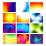 Polygon vector mosaic backgrounds set, colorful abstract patterns, illustration Stock Photography