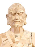 Polygon Vector of Wooden Buddha Royalty Free Stock Image