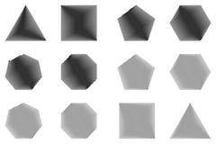Polygon - vektoruppsättning Royaltyfri Fotografi